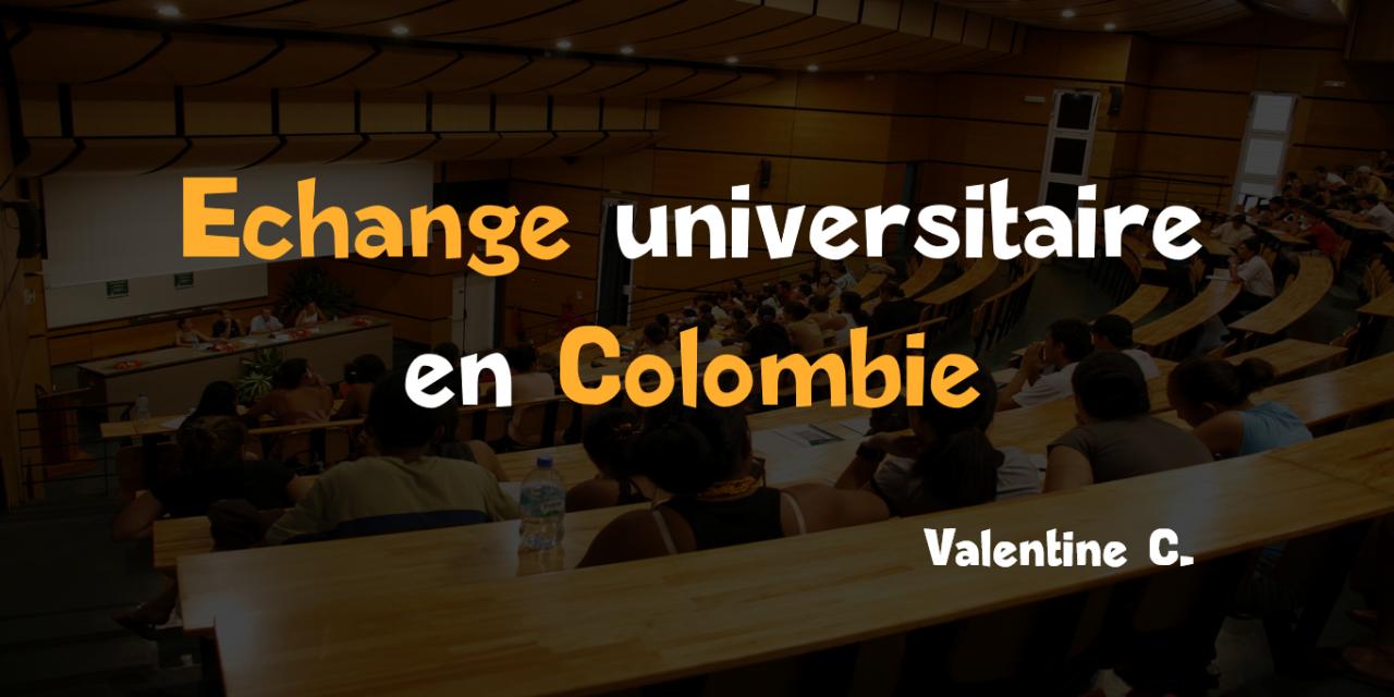 Echange universitaire en Colombie : le choix de Valentine