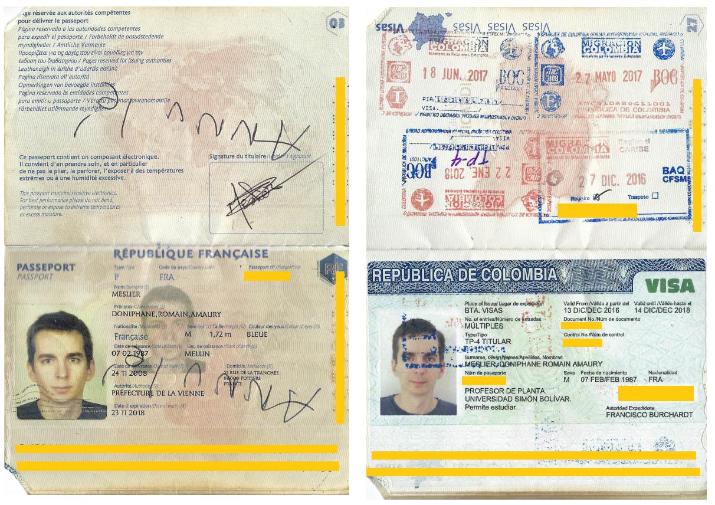 ancien passeport annulé Colombie