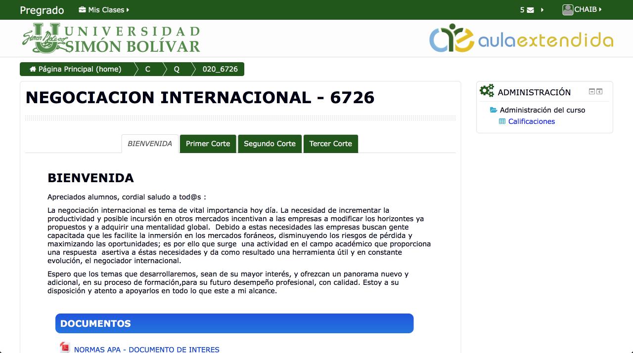 étudier en Colombie aula extendida