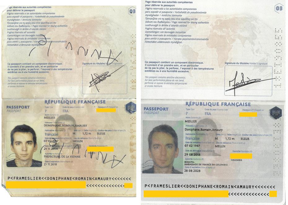 2 passeports demande de visa R Colombie