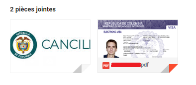 PDF visa R colombien