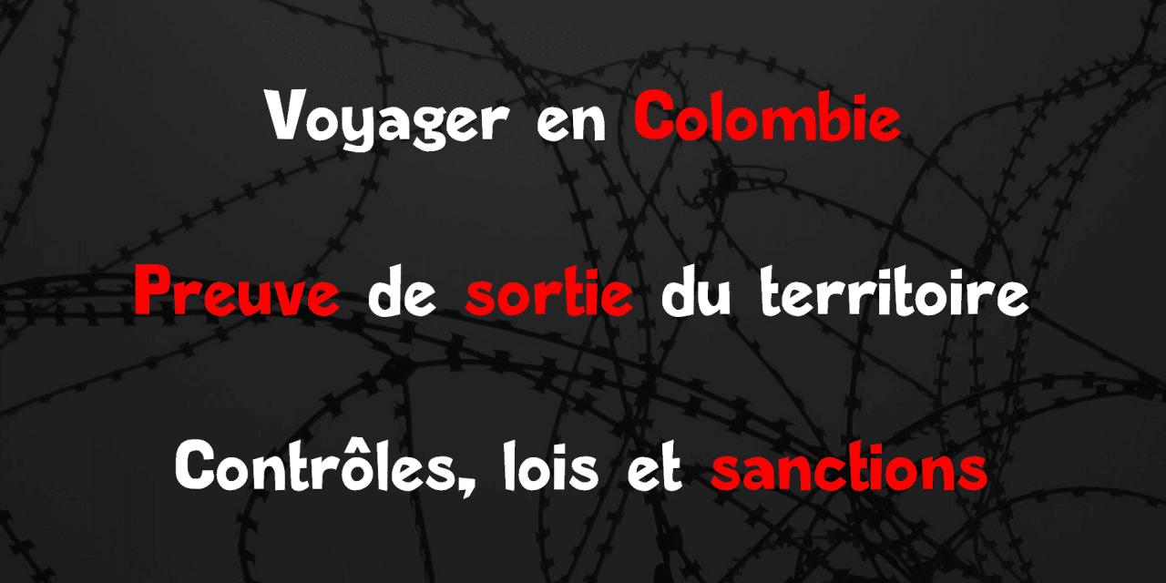 Colombie : preuve de sortie du territoire