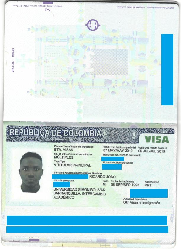 visa étudiant colombie