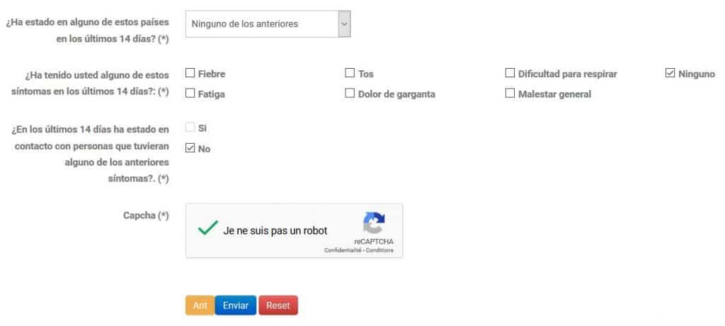 Covid-19 en Colombie questionnaire en ligne