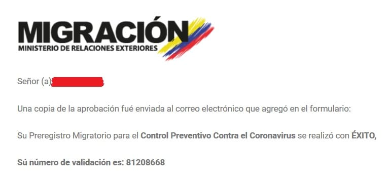 Migration colombienne confirmation virus Covid-19
