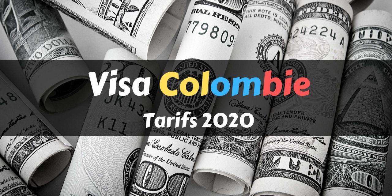 Prix visa colombien : tarifs 2020